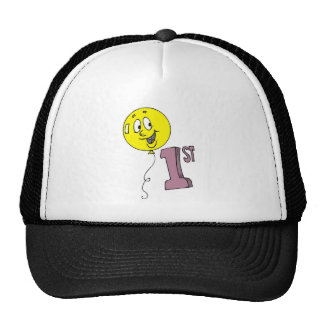 1st Birthday Smiling Balloon Cap