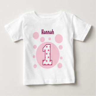 1st Birthday Stars and Bubbles One Year Old V10 Baby T-Shirt