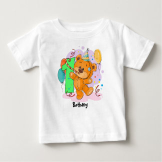 1st Birthday Teddy Bear Baby T-Shirt