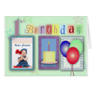 1st birthday template card