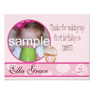 1st Birthday Thank you card 11 Cm X 14 Cm Invitation Card
