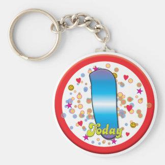 1st Birthday Today Keychain