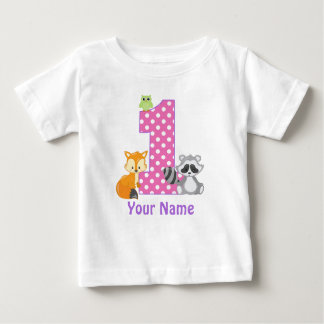 1st Birthday Woodland Personalised T-shirt