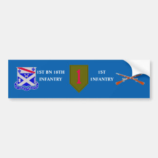 1ST BN 18TH INFANTRY 1ST INFANTRY BUMPER STICKER