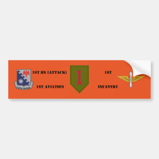 1ST BN 1ST AVIATION 1ST INFANTRY BUMPER STICKER