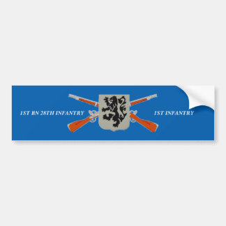 1ST BN 28TH INFANTRY 1ST INFANTRY BUMPER STICKER