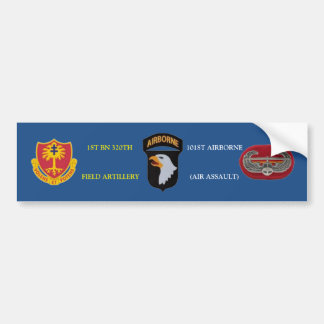 1ST BN 320TH FIELD ARTILLERY 101ST BUMPER STICKER