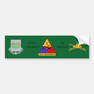 1ST BN 37TH ARMOR 1ST ARMORED BUMPER STICKER