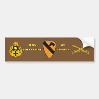 1ST BN 5TH CAVALRY 1ST CAVALRY BUMPER STICKER