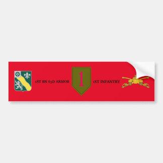 1ST BN 63D ARMOR 1ST INFANTRY BUMPER STICKER