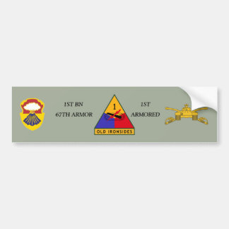 1ST BN 67TH ARMOR 1ST ARMORED BUMPER STICKER