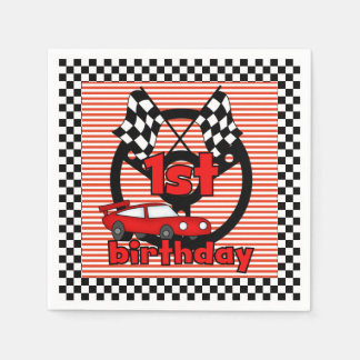 1st Car Racing Birthday Paper Napkins Disposable Napkin