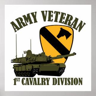 1st Cav Army Vet - M1 Tank Poster