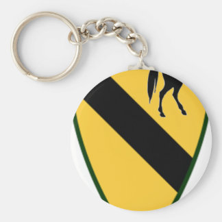 1st CAV color.png Basic Round Button Key Ring