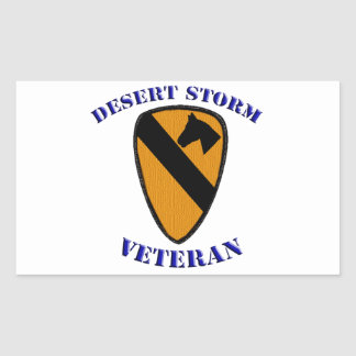 1st Cav Desert Storm Veteran Rectangular Sticker