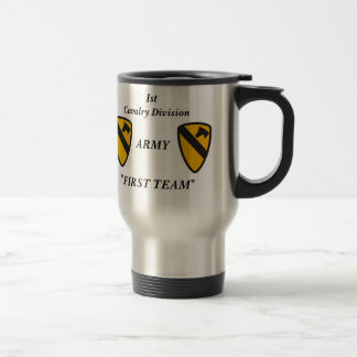 1st cav me travel mug