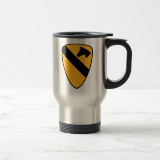 1st Cav Patch Travel Mug