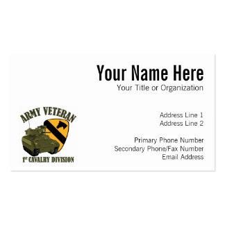 1st Cav Vet - Bradley Business Card Template