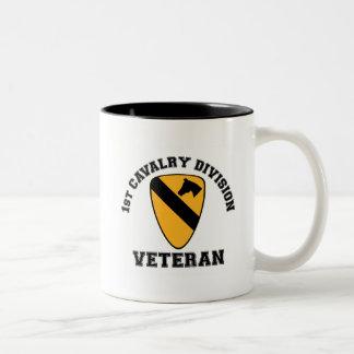 1st Cav Vet - College Style Two-Tone Coffee Mug