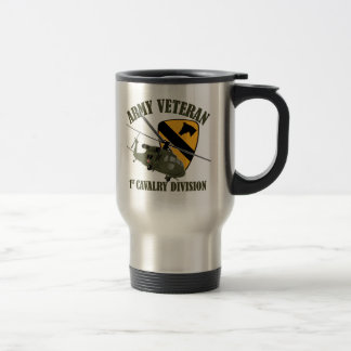 1st Cav Vet - UH60 Blackhawk Travel Mug