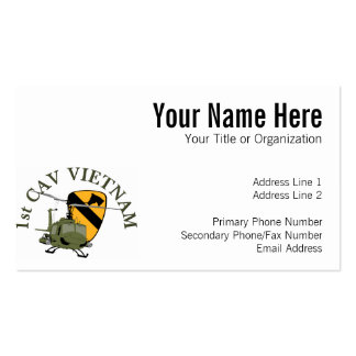1st Cav Vietnam Business Card Template