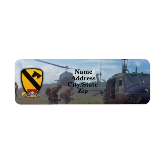 1st cavalry air cav vietnam nam war return address label