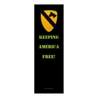 1st cavalry air cav war  veterans  bookmarker pack of skinny business cards