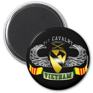 1st Cavalry-Airmobile, Vietnam 6 Cm Round Magnet
