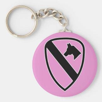 1st Cavalry Basic Round Button Key Ring