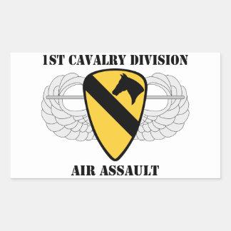 1st Cavalry Division Air Assault - With Text Rectangular Sticker