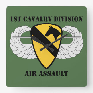 1st Cavalry Division Air Assault - With Text Wallclocks