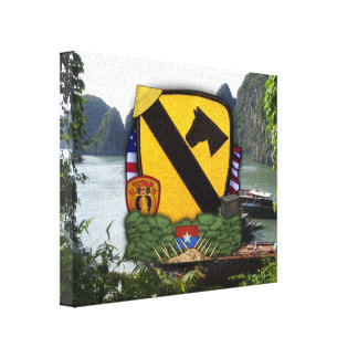 1st cavalry division air cav vietnam war veterans canvas print