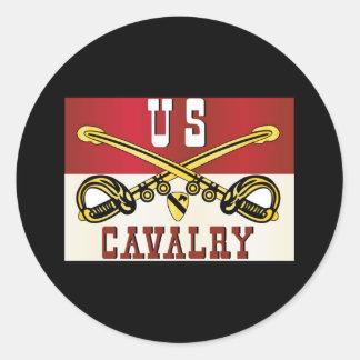 1st CAVALRY DIVISION Banner Round Sticker