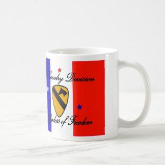 1st Cavalry Division Basic White Mug