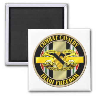 1st Cavalry Division Cavalry Scout OIF Square Magnet