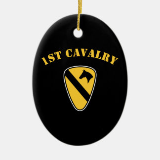 1st Cavalry Division Ceramic Oval Decoration