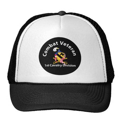 1st Cavalry Division Combat Veteran Mesh Hats