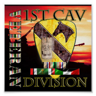 1st Cavalry Division Desert Storm Veteran Posters