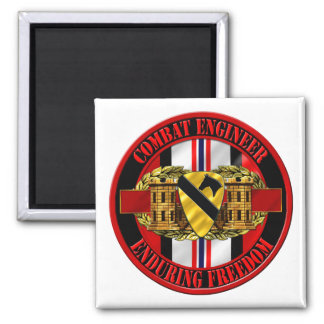 1st Cavalry Division Engineer OEF Fridge Magnets