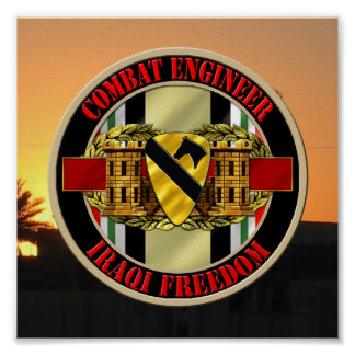 1st Cavalry Division Engineer OIF VETERAN Poster