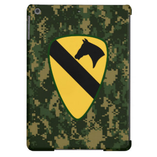 """1st Cavalry Division """"First Team"""" Dark Green Camo Cover For iPad Air"""