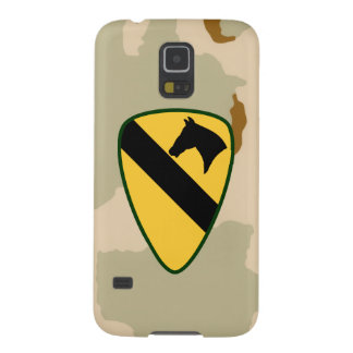 """1st Cavalry Division """"First Team"""" Desert Camo Galaxy S5 Cases"""