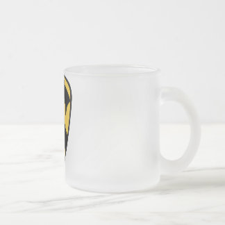 1st Cavalry Division Frosted Glass Coffee Mug