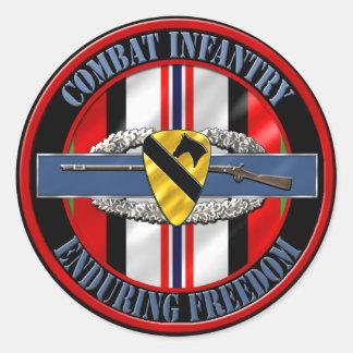 1st Cavalry Division Infantry OEF Round Sticker