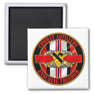 1st Cavalry Division Infantry OEF Square Magnet