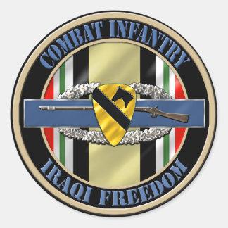 1st Cavalry Division Infantry OIF Round Sticker