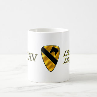1st Cavalry Division Live the Legend Basic White Mug