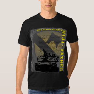1st Cavalry Division - M1A1 Tanker T-shirts