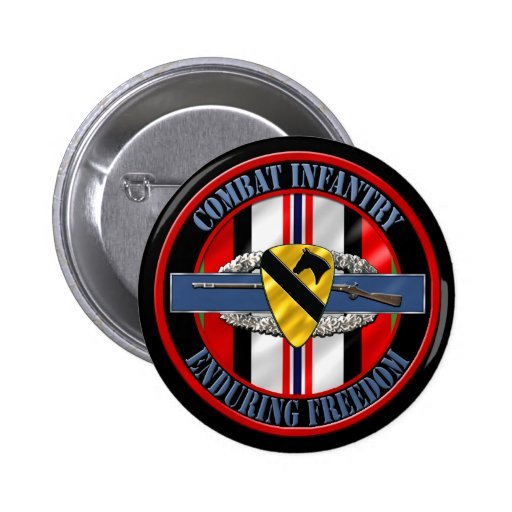 1st Cavalry Division OEF Infantry Pins