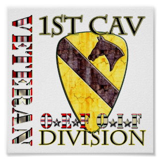 1st Cavalry Division OEF OIF VETERAN Posters